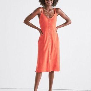 Lucky Brand Button Up Dress- Orange- XL